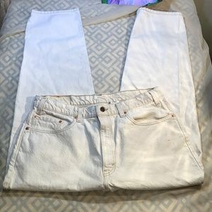 Levis 550 Relaxed Fit Jeans White Men 38x30 Vtg